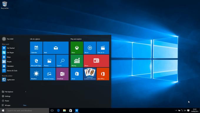 Tampilan windows 10