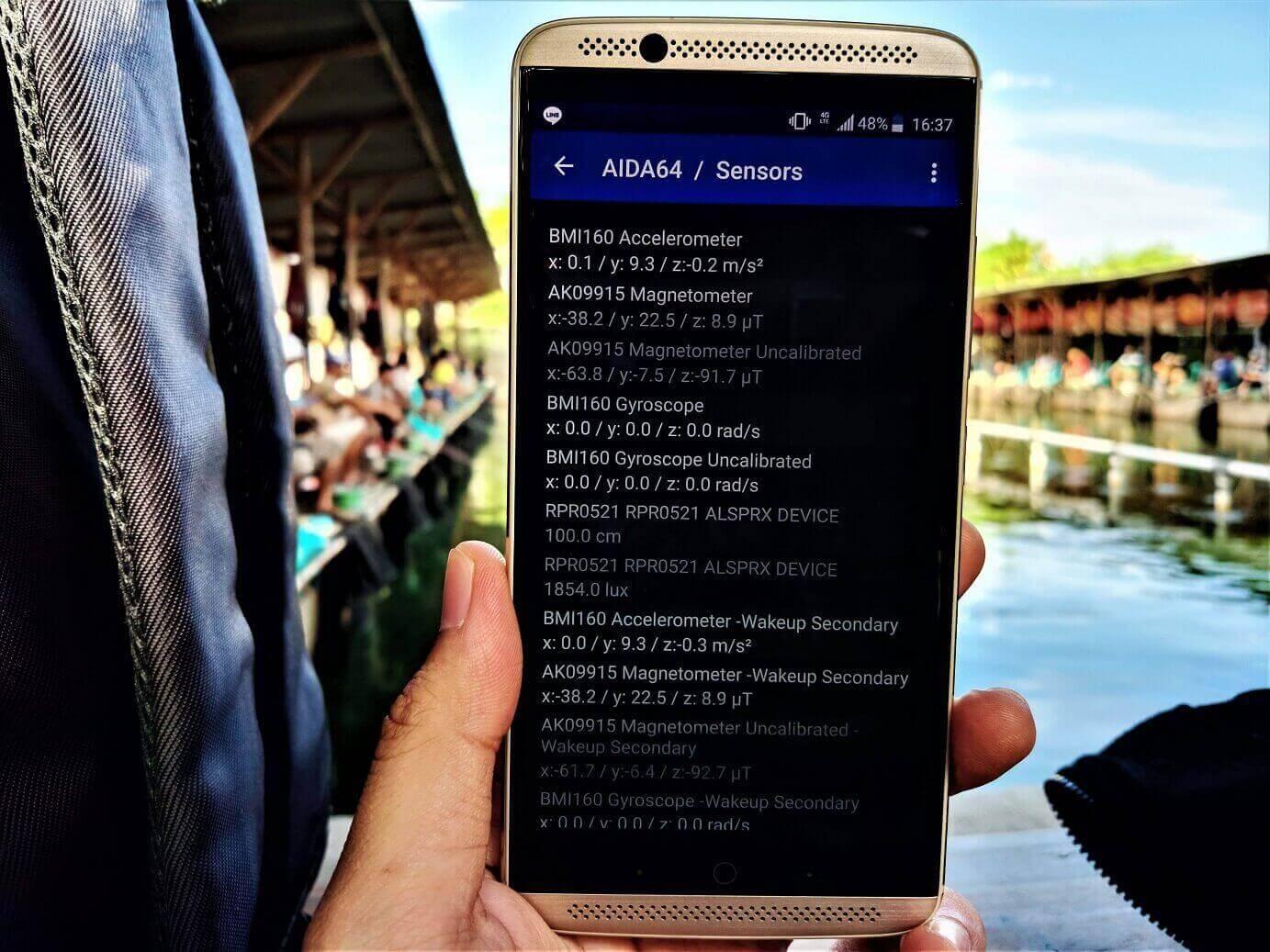 Cara melihat sensor pada Smartphone bagian 1