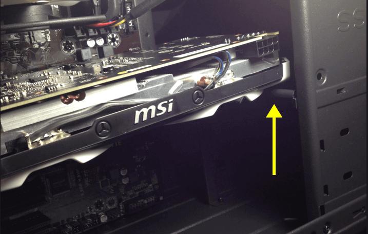 GPU terlalu panjang pada casing