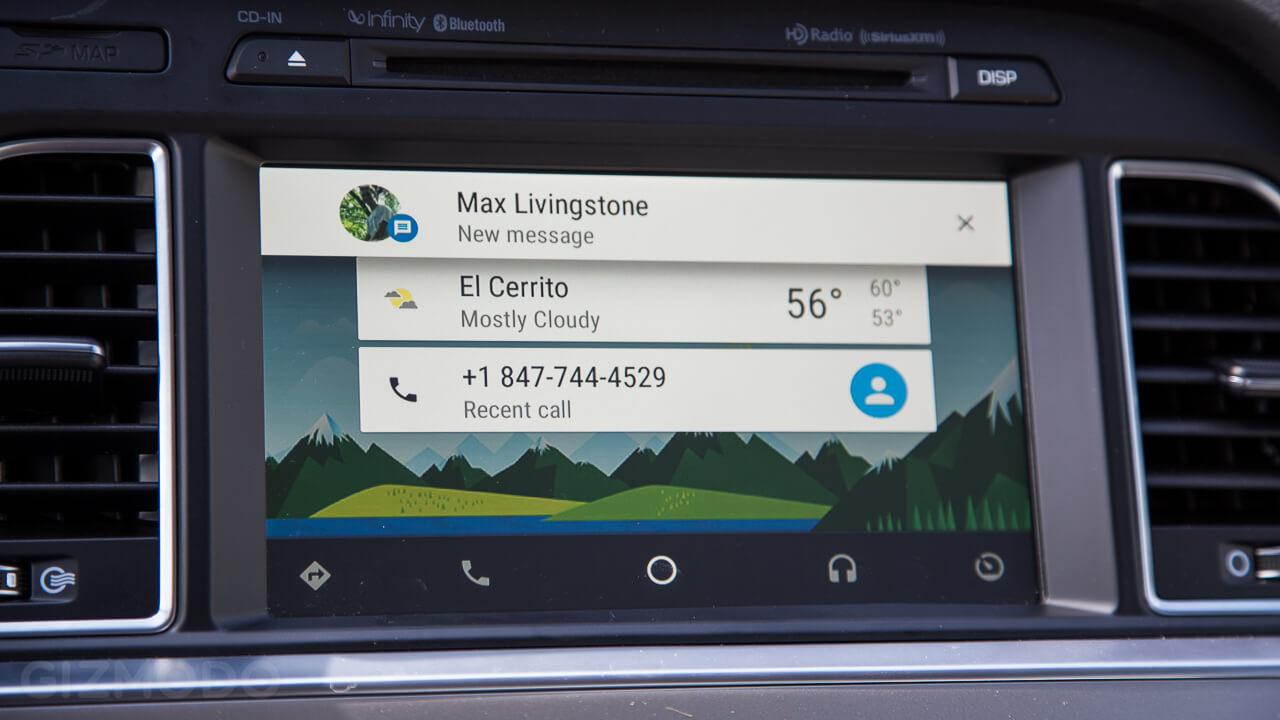 sms dan telpon pada android auto